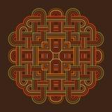 Carta di modello celtica del nodo, mandala, amuleto Fotografia Stock Libera da Diritti