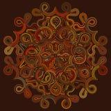 Carta di modello celtica del nodo, mandala, amuleto Immagini Stock