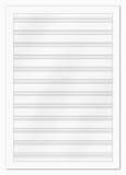 Carta di musica in bianco fotografie stock libere da diritti