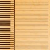 Carta di musica decorata con le chiavi Immagine Stock Libera da Diritti