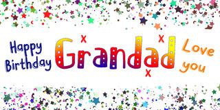 Carta di nonno di buon compleanno Immagine Stock Libera da Diritti
