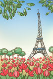 Carta di Parigi Fotografia Stock