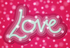 Carta di parola di amore del biglietto di S. Valentino 3d Fotografia Stock Libera da Diritti
