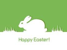 Carta di pasqua con coniglio Fotografia Stock