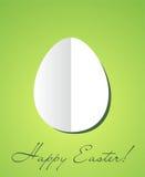 Carta di pasqua con l'uovo di carta Immagini Stock