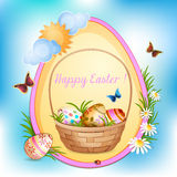 Carta di pasqua con le uova di Pasqua. illustrazione di stock