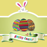 Carta di pasqua felice royalty illustrazione gratis
