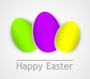 Carta di pasqua felice con le uova di Pasqua Immagini Stock Libere da Diritti