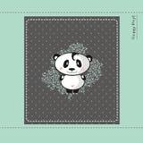 Carta di progettazione del panda del bambino Fotografia Stock