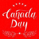 Carta di progettazione di giorno del Canada Fotografia Stock Libera da Diritti