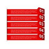 Carta di punto di affari e modello di progettazione di numeri Immagine Stock Libera da Diritti