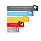 Carta di punto di affari e modello di progettazione di numeri Immagine Stock