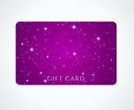 Carta di regalo/carta/biglietto da visita di sconto. Stelle Fotografie Stock