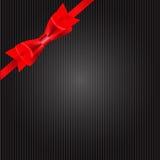 Carta di regalo con il nastro, elementi di progettazione Vettore Fotografia Stock