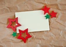 Carta di regalo con lo spazio della copia per natale Immagini Stock