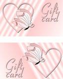 Carta di regalo dei biglietti di S. Valentino royalty illustrazione gratis