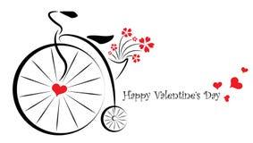 Carta di regalo di giorno di biglietti di S. Valentino - per lei Fotografie Stock Libere da Diritti
