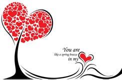 Carta di regalo felice di giorno di biglietti di S. Valentino Fotografia Stock Libera da Diritti