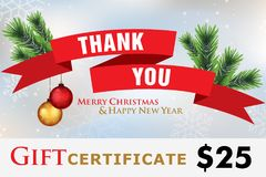 Carta di regalo, feste felici del buono di regalo Immagine Stock Libera da Diritti