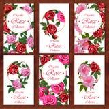 Carta di Rosa su fondo di legno Immagini Stock