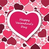 Carta di San Valentino Fotografia Stock