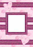 Carta di San Valentino con la struttura della foto Fotografia Stock