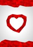 Carta di San Valentino, poli cuore basso Immagini Stock Libere da Diritti