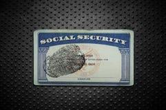 Carta di sicurezza sociale immagini stock