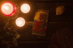 Carta di tarocchi Lettura futura divination Fotografie Stock Libere da Diritti