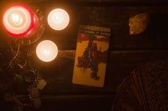 Carta di tarocchi Lettura futura divination Immagini Stock Libere da Diritti