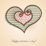Carta di Valentine Greeting Fotografia Stock Libera da Diritti