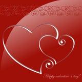 Carta di Valentine Greeting Fotografie Stock Libere da Diritti