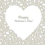 Carta di Valentines'day del cuore Fotografia Stock Libera da Diritti