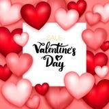 Carta di vendita di giorno di biglietti di S. Valentino Fotografia Stock Libera da Diritti