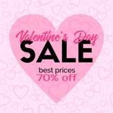 Carta di vendita di giorno di biglietti di S. Valentino Modello di vettore Fotografia Stock Libera da Diritti