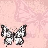 Carta di vettore con la farfalla royalty illustrazione gratis