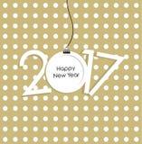 Carta di vettore del nuovo anno 2017 Immagini Stock