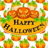 Carta di vettore della zucca di Halloween Fotografia Stock Libera da Diritti