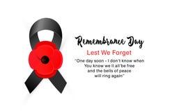 Carta di vettore di giornata della memoria Affinchè non dimentichiamo immagini stock libere da diritti