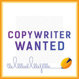 Carta di vettore se state cercando il copywriter Fotografia Stock Libera da Diritti