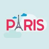 Carta di viaggio di Parigi Fotografia Stock