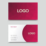 Carta di visita con progettazione poligonale del mosaico Fotografia Stock