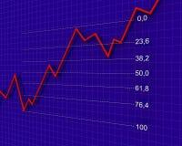 Carta, diagrama (número de Fibonacci) Fotografia de Stock Royalty Free