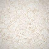 Carta disegnata a mano astratta beige senza cuciture floreale. Illustrazione Vettoriale