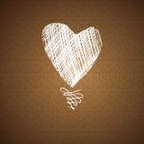 Carta disegnata a mano di schizzo dei cuori di amore Fotografie Stock Libere da Diritti