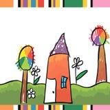 Carta disegnata a mano luminosa per la festa della Mamma Fotografia Stock