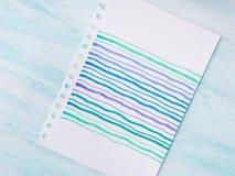Carta disegnata a mano variopinta per i saluti dell'invito Fotografie Stock