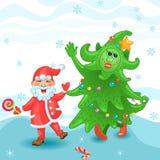 Carta divertente del nuovo anno Illustrazione di Stock