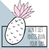 carta divertente di citazione Fotografie Stock
