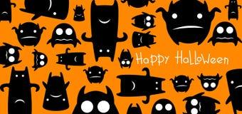 Carta divertente di Halloween dei mostri Fotografie Stock Libere da Diritti